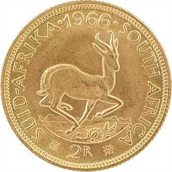 Afrique du Sud, 2 rand, 1966
