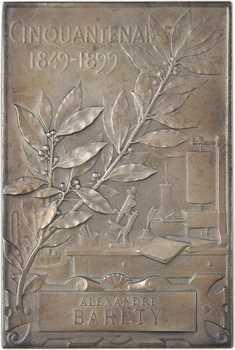 Richer (P.) : cinquantenaire de la société de biologie, à Alexandre Baréty, 1849-1899 Paris