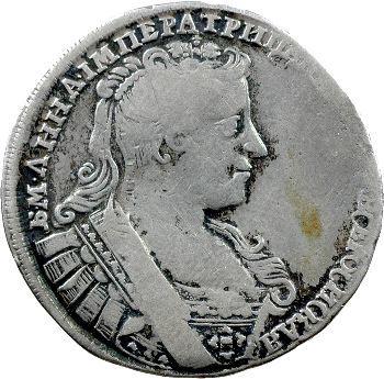 Russie, Anne, demi-rouble, 1732 Moscou