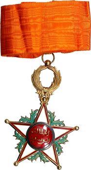 Maroc, Ordre du Ouissam Alaouite Cherifien, bijou de Commandeur en or