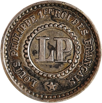 Louis-Philippe Ier, essai d'un décime, 1847 Paris