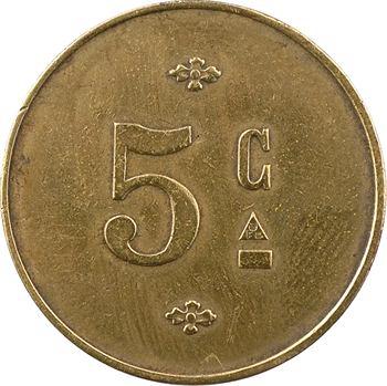 Maroc, Rabat, brasserie Luxembourg, 5 centimes, s.d