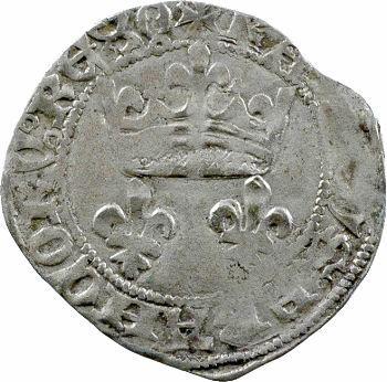 Charles VII, petit blanc aux lis accotés, Orléans