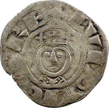 Louis VII et l'évêque Gauthier, denier, Laon