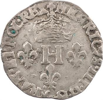 Henri III, sol parisis 2e type, 1583 Troyes