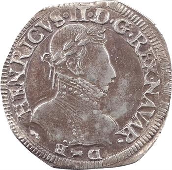 Béarn (seigneurie de), Henri II, teston, 1575 Pau