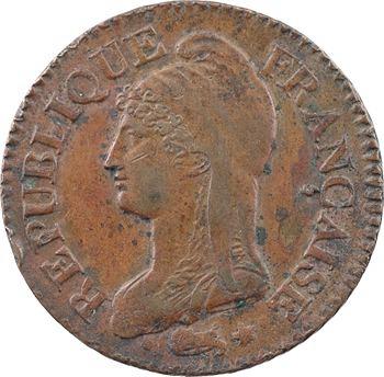Le Directoire, cinq centimes Dupré, An 8 Lille