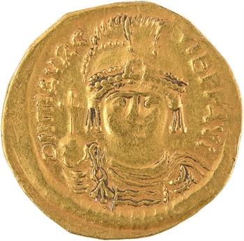 Maurice Tibère, solidus, Constantinople, 9e officine, 585-586