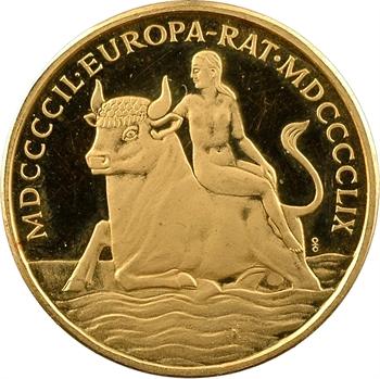 Allemagne, dixième anniversaire du Conseil de l'Europe, module du III ducat, médaille en or PROOF, 1959