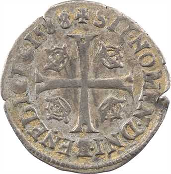 Henri III, douzain aux 2 H 1er type, 1588 Troyes