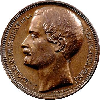 IIe République, médaille au module de 5 francs par Montagny, 1852