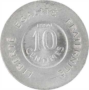 IIIe République, essai de 10 centimes par Rude, petit module, 1909 Paris