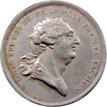 Louis XVI, la mort du Roi, par Loos, 1793 Berlin