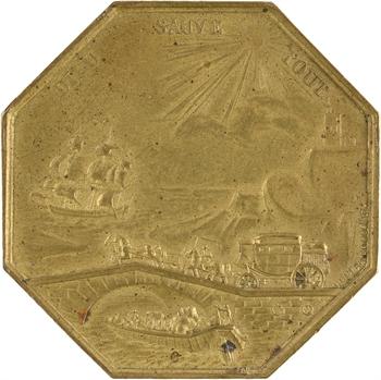 Louis XVIII, la Compagnie commerciale d'assurances de Paris, par Dubois, 1818 Paris