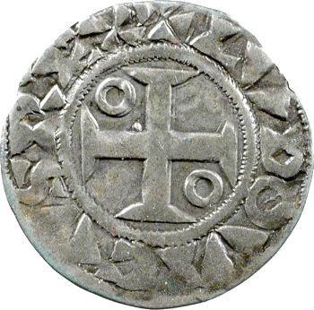 Louis VII, denier 1er type, Mantes