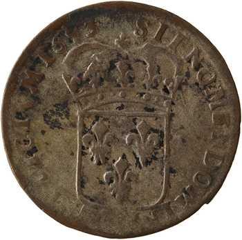 Louis XIV, quinzain aux huit L, flan neuf, 1693 Riom