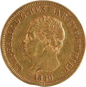 Italie, Savoie-Sardaigne, Charles-Félix, 80 lire, 1830 Gênes