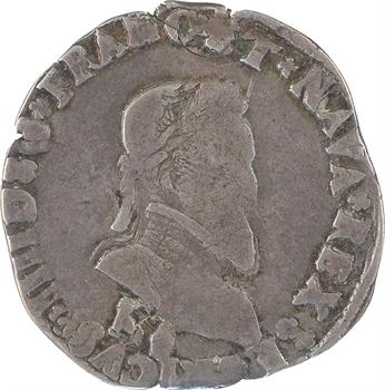 Henri IV, demi-franc, 2e type, 1596 Bordeaux