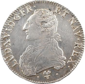 Louis XVI, écu aux rameaux d'olivier, 1787 Bayonne