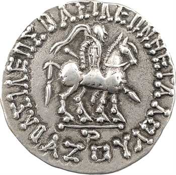 Royaume Indo-Scythe, Azès Ier, tétradrachme (Pallas), c.57-35 av. J.-C. Hazara