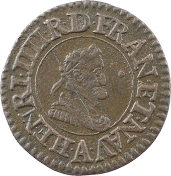 Henri IV, denier tournois, 1609 Paris