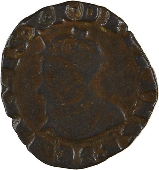 Charles X, double tournois, 1592 ? Troyes