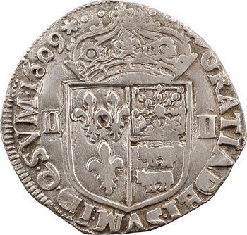 Henri IV, quart d'écu de Béarn, 1609 Morlaàs