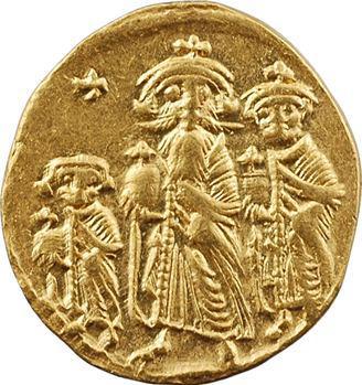 Héraclius, Héraclius Constantin et Héraclonas, solidus, Constantinople, 10e officine, 632-638