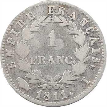 Premier Empire, 1 franc Empire, 1811 Limoges