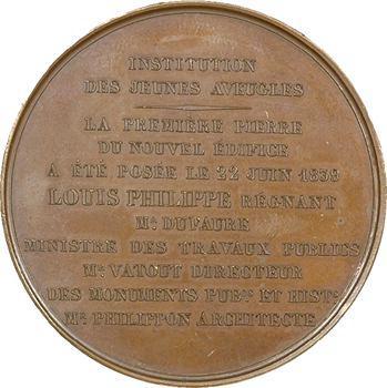 Louis-Philippe Ier, institution des jeunes aveugles par Barre, 1839 Paris