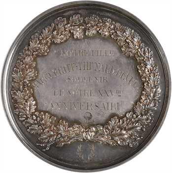 IIIe République, souvenir du 25e anniversaire du mariage Devrez, symboles maçonniques, 1853-1878 Paris