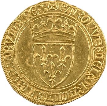 Charles VI, écu d'or à la couronne, 2e émission, Troyes