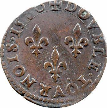 Henri III, double tournois, 1580 Poitiers