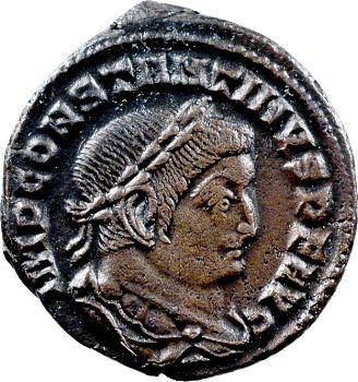 Constantin Ier, follis, Lyon, 309-310