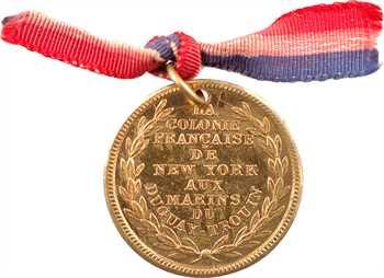 États-Unis, la colonie française de New-York aux marins du Duguay-Trouin, 1901