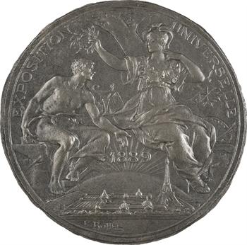 Bottée (L.) : Exposition Universelle de 1889, cliché uniface du droit, 1889 Paris