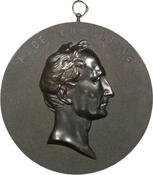Restauration, Médaille uniface en bois durci, Alphonse de Lamartine