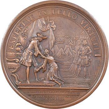 Louis XIV, fondation de l'ordre militaire de Saint Louis, par Mauger, 1693 (frappe postérieure) Paris