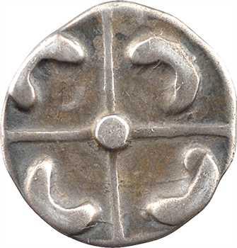 Longostalètes, drachme au style languedocien, série IV type à la chevelure en forme de casque, c.IIe s. av. J.-C.