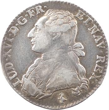 Louis XVI, cinquième d'écu aux branches d'olivier, 1783/2, 1er semestre, Paris
