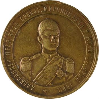 Serbie (royaume de), Alexandre Ier, accession au trône, 1889