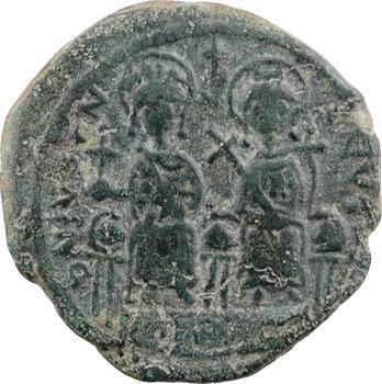 Justin II et Sophie, follis, Cyzique, 1re officine, An XII = 576-577