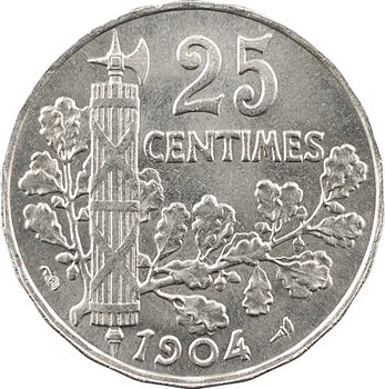 -IIIe République, 25 centimes Patey, 1904 Paris