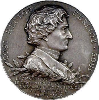 Monaco, Albert Ier, centenaire de la naissance de Berlioz, 1903