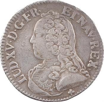 Louis XV, cinquième d'écu aux rameaux d'olivier, 1727 Troyes