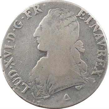 Louis XVI, écu aux branches d'olivier, [1789 Orléans] FAUX D'ÉPOQUE