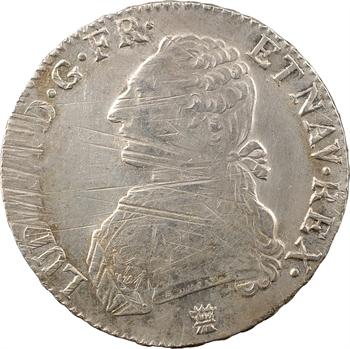 Louis XVI, écu aux branches d'olivier, 1790 Limoges