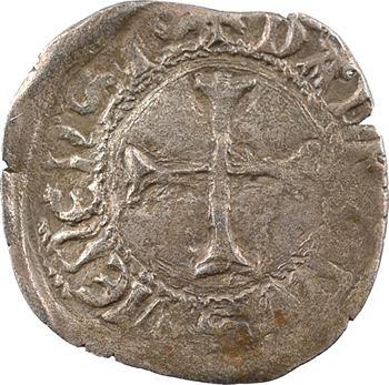 Dauphiné, Viennois (dauphins du), Charles III dauphin et Roi (Charles VII), liard dauphin de face, s.d. Crémieu