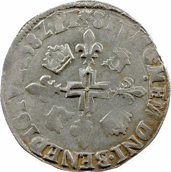 Henri III, double sol parisis du Dauphiné, 1582 Grenoble