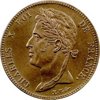 Charles X, essai de 5 centimes, s.d. (1825) Paris